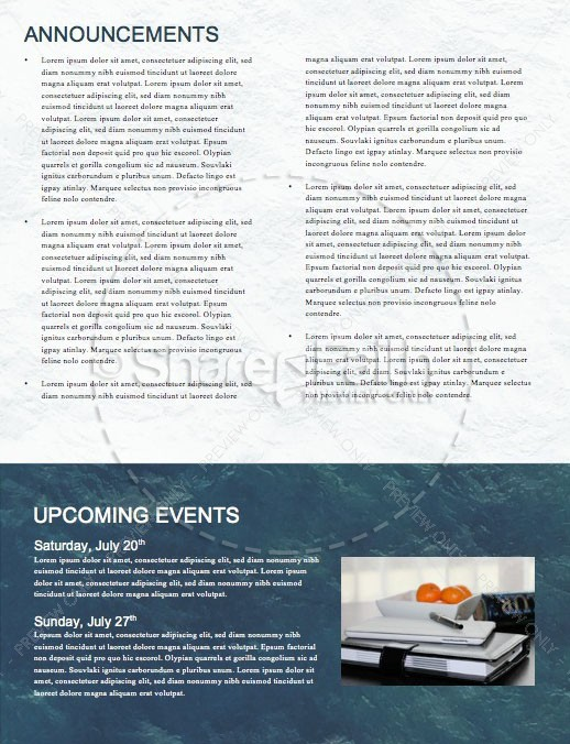 Walk On Water Church Newsletter Template | page 4