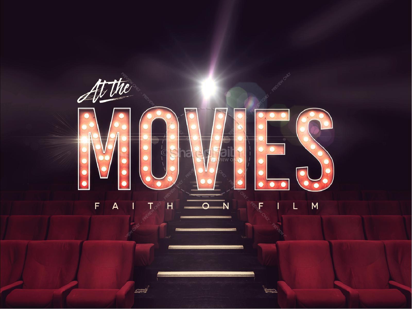 At The Movies Church Sermon Series PowerPoint | slide 1
