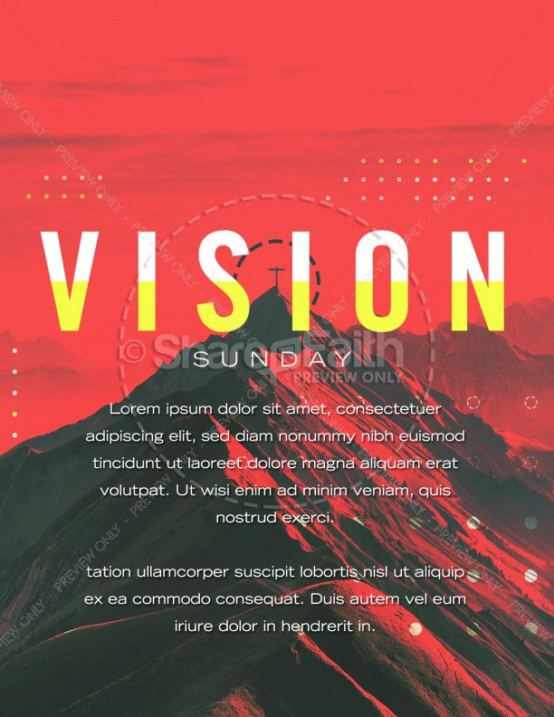 Vision Sunday Red Mountains Church Flyer