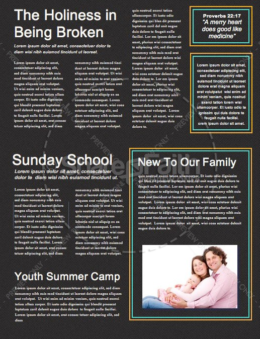 Anointed By The Spirit Newsletter Template | page 2