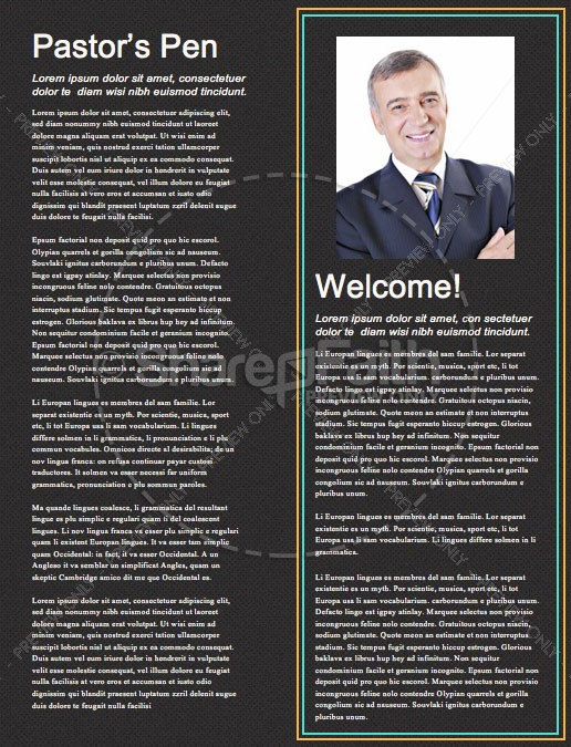 Anointed By The Spirit Newsletter Template | page 3