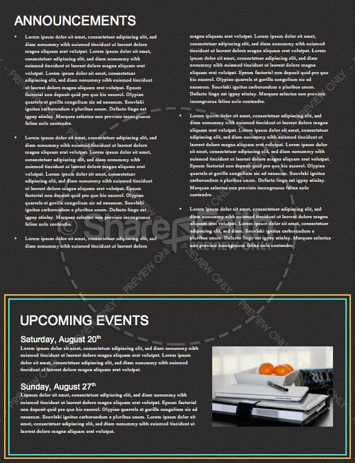 Anointed By The Spirit Newsletter Template | page 4