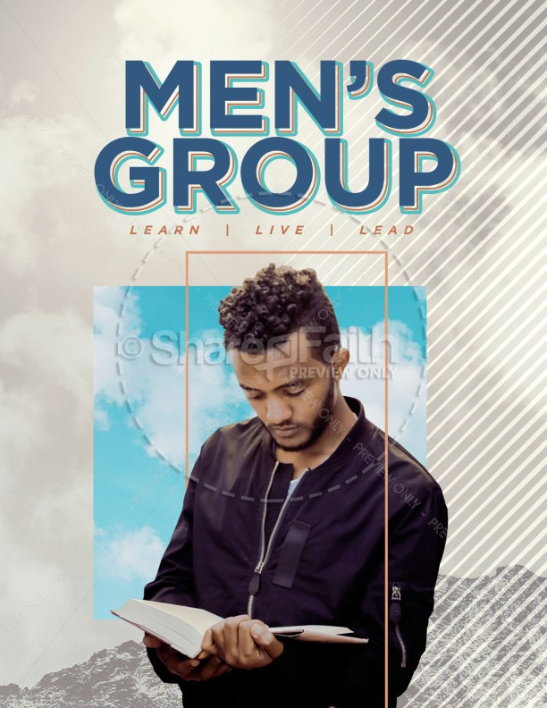 Men's Group Bible Study Flyer Template | page 1