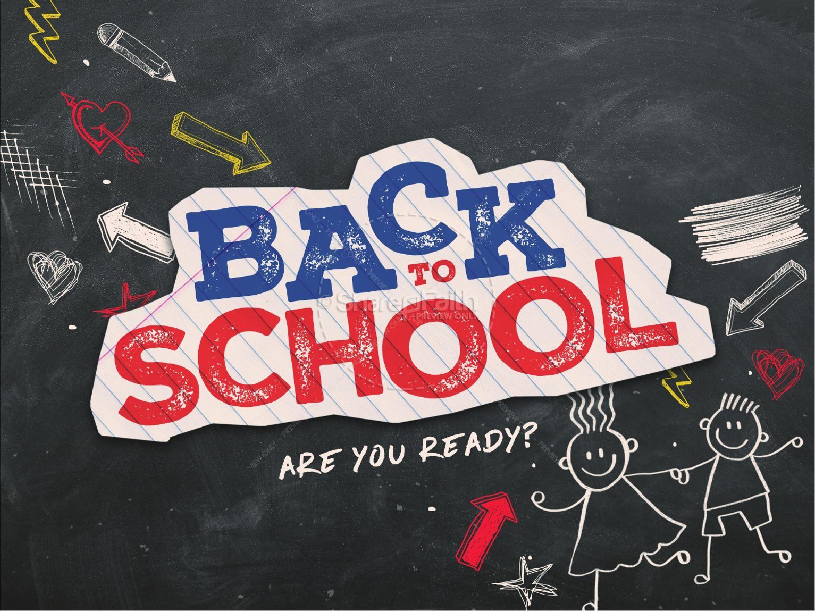 back to school chalkboard art church powerpoint back to school