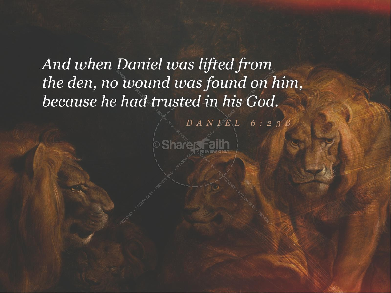 Book Of Daniel Lion's Den Sermon Graphic | slide 4