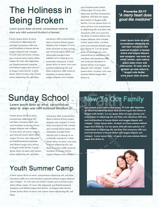 Noise Sermon Newsletter Template | page 2