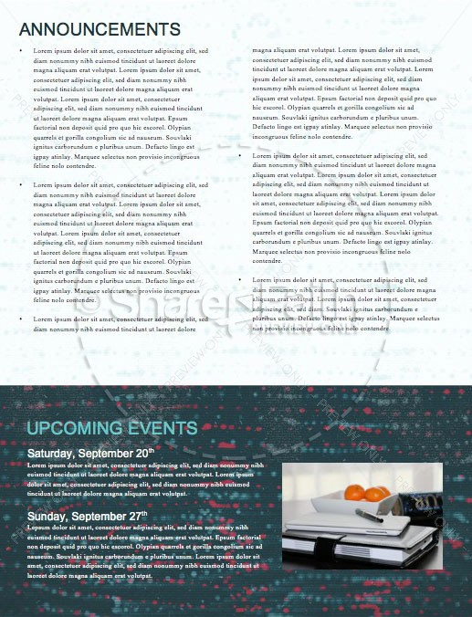 Noise Sermon Newsletter Template | page 4