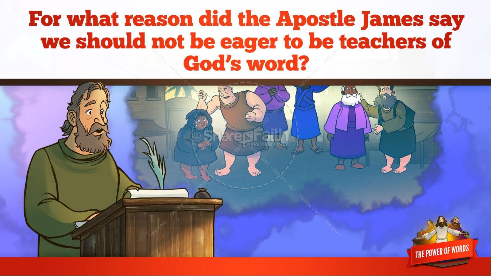 James 3 The Power of Words Kids Bible Story | slide 11