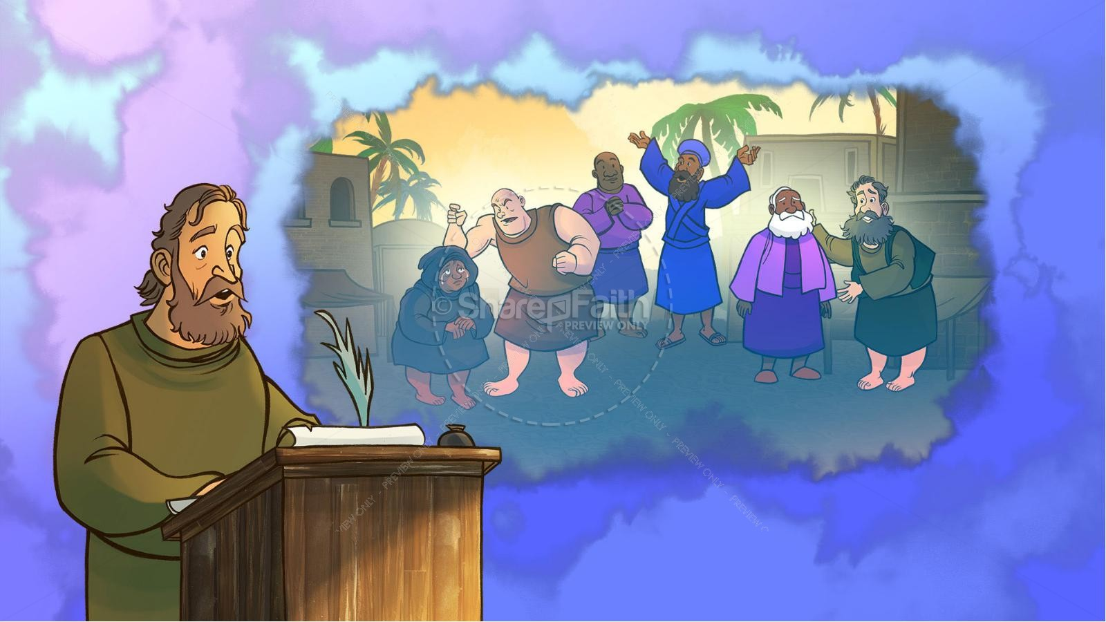 James 3 The Power of Words Kids Bible Story | slide 2