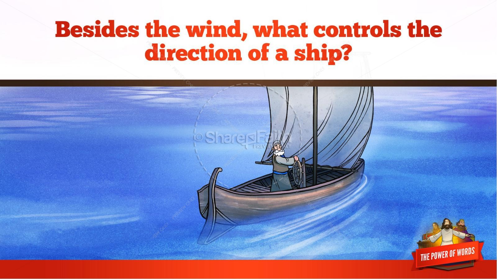 James 3 The Power of Words Kids Bible Story | slide 19