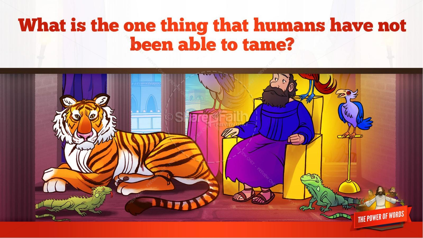 James 3 The Power of Words Kids Bible Story | slide 27