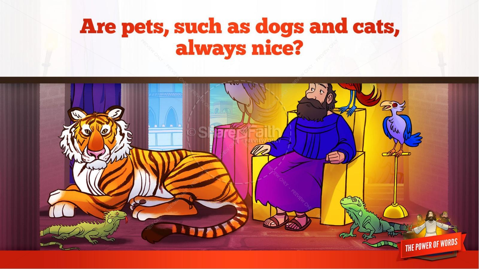 James 3 The Power of Words Kids Bible Story | slide 29