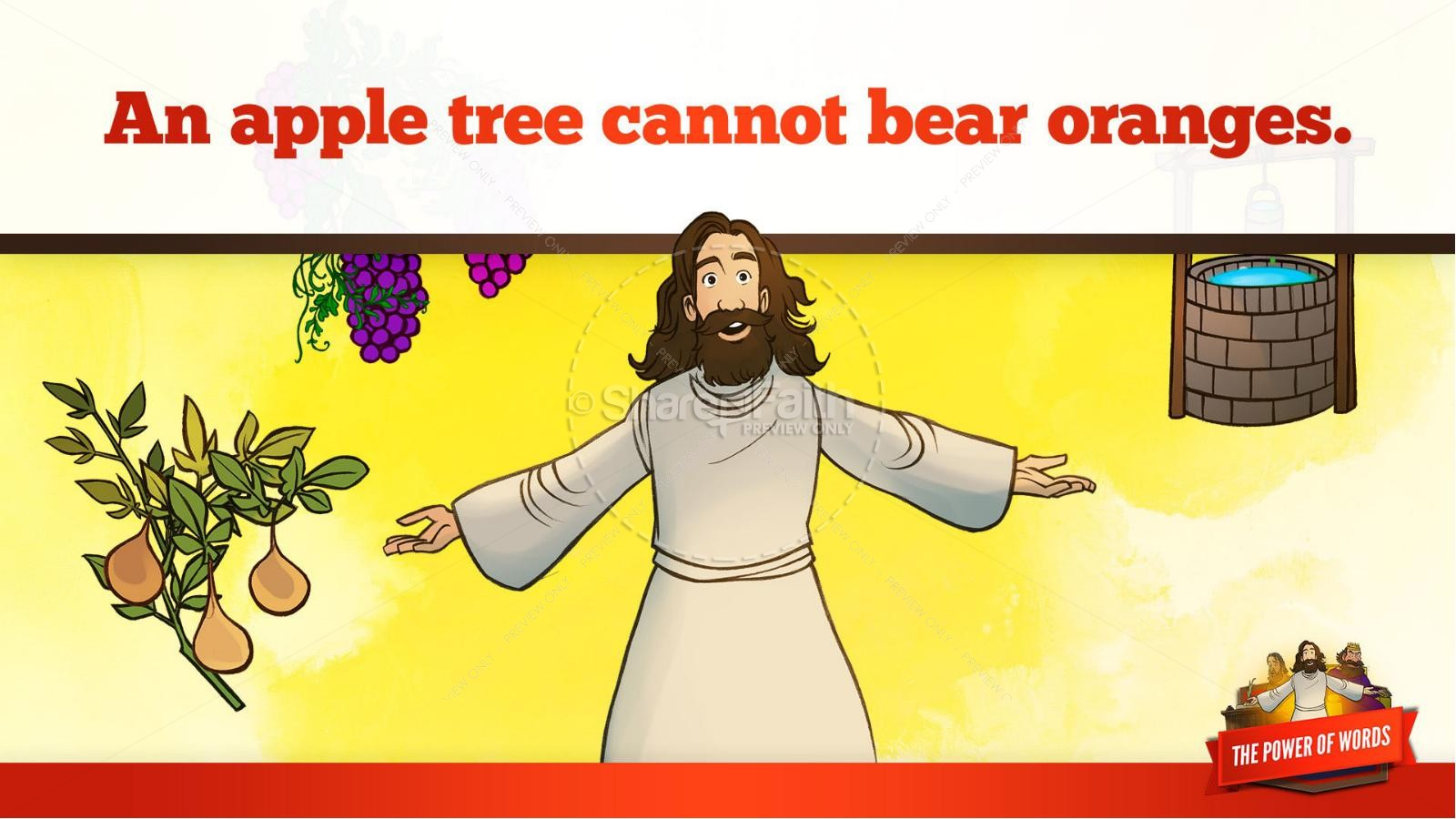 James 3 The Power of Words Kids Bible Story | slide 36