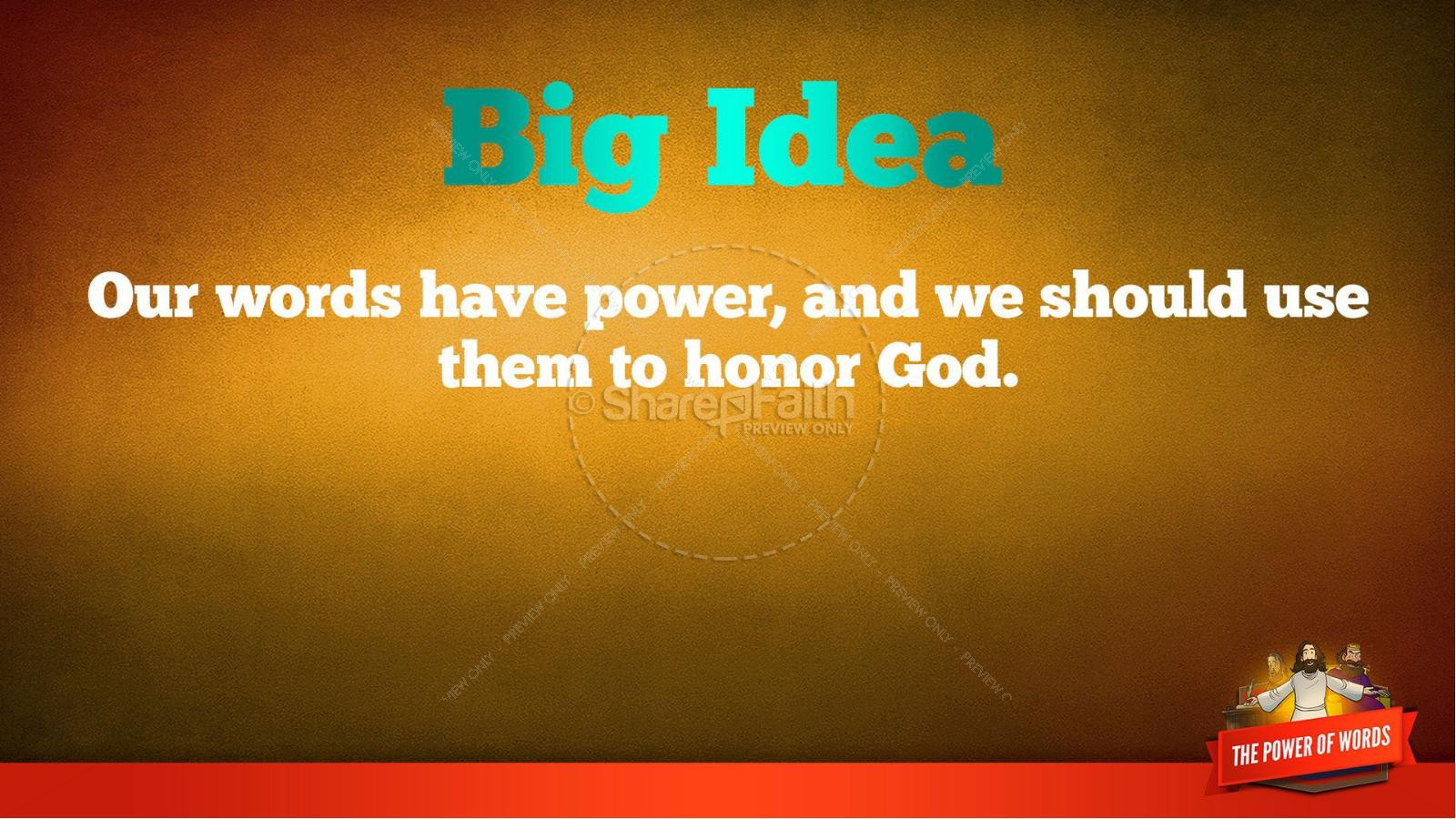James 3 The Power of Words Kids Bible Story | slide 38