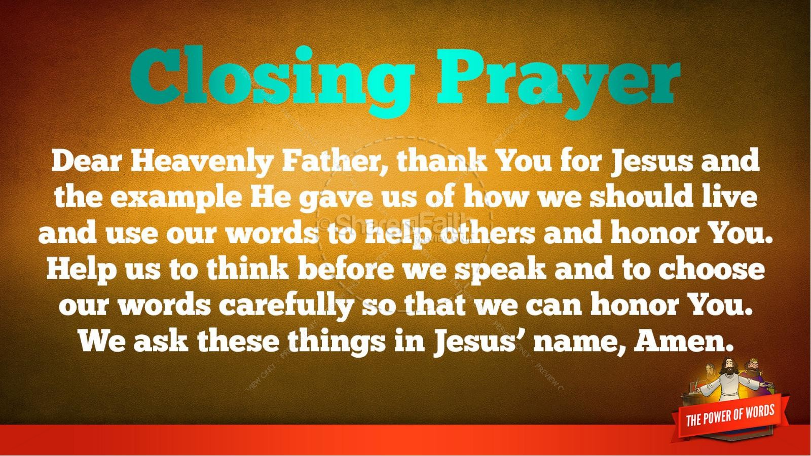 James 3 The Power of Words Kids Bible Story | slide 40