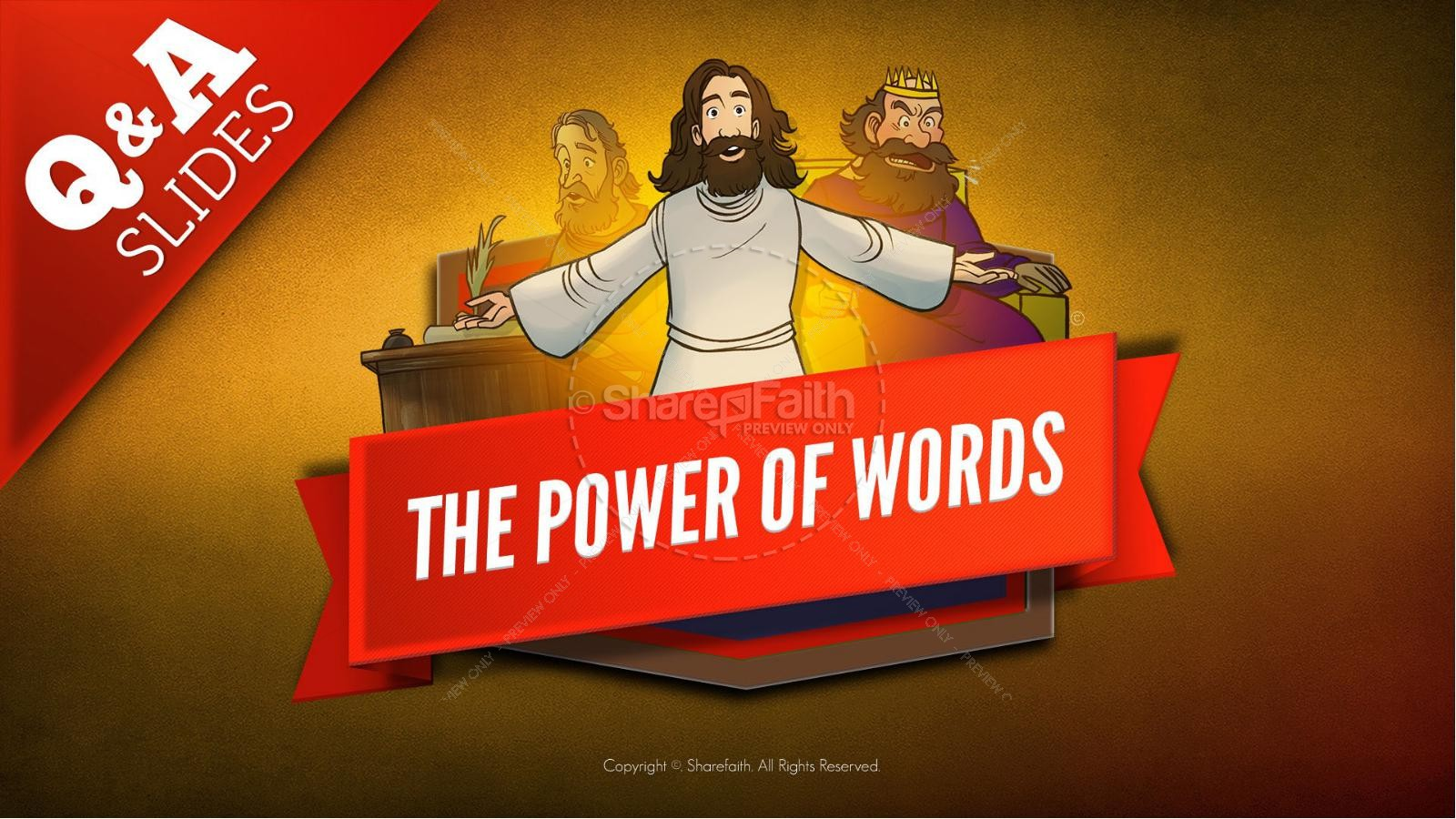 James 3 The Power of Words Kids Bible Story | slide 9
