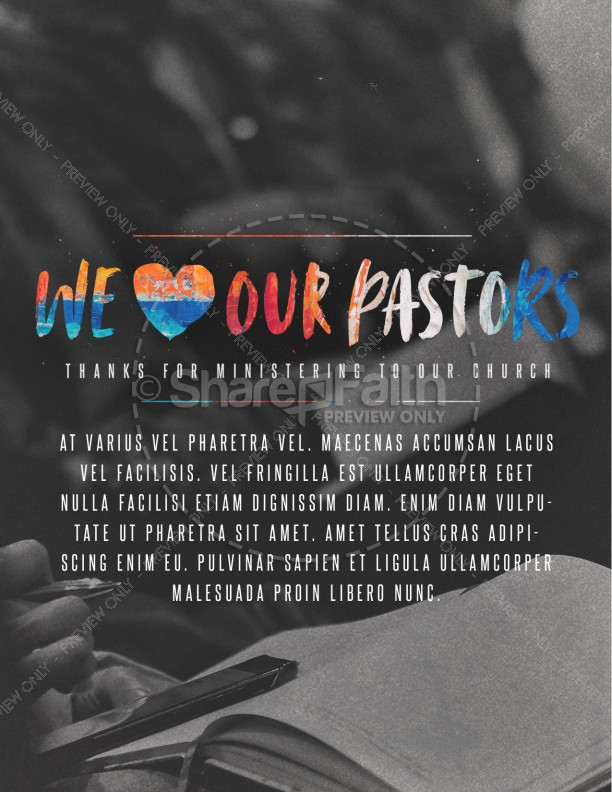 We Love Our Pastors Service Flyer Template Template Flyer Templates