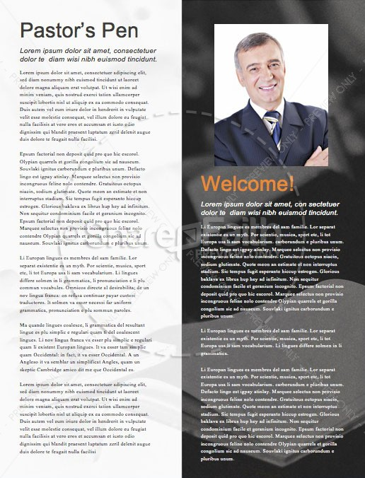 We Love Our Pastors Service Newsletter Template | page 3