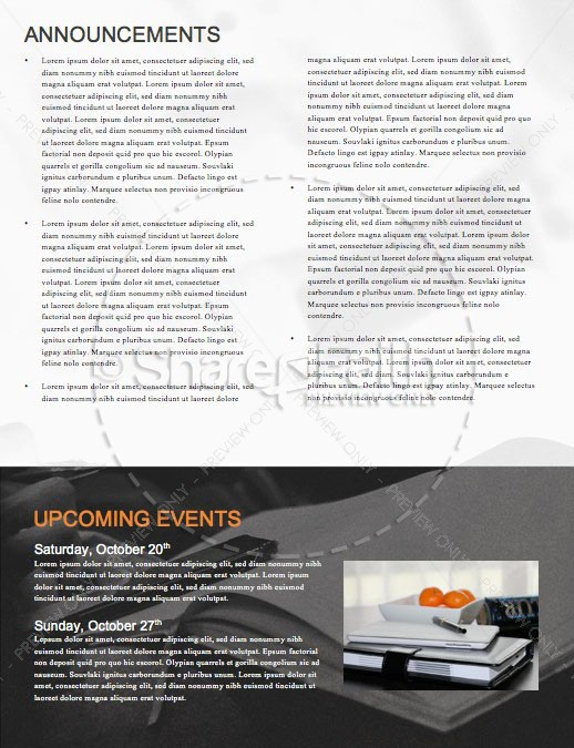 We Love Our Pastors Service Newsletter Template | page 4