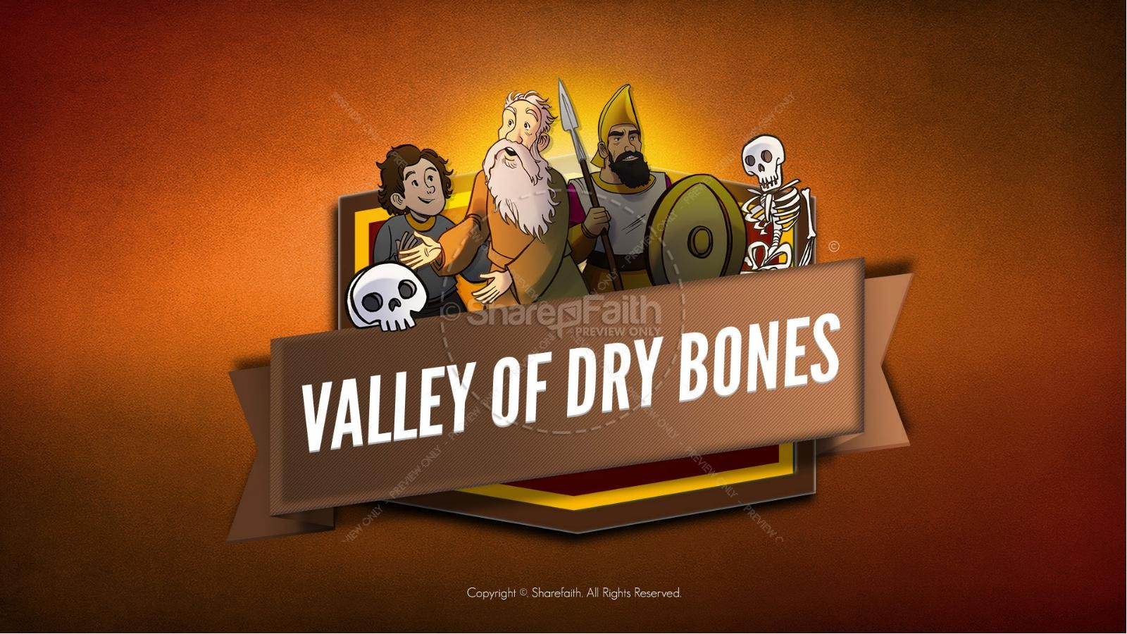 Ezekiel 37 Valley of Dry Bones Kids Bible Story | slide 1