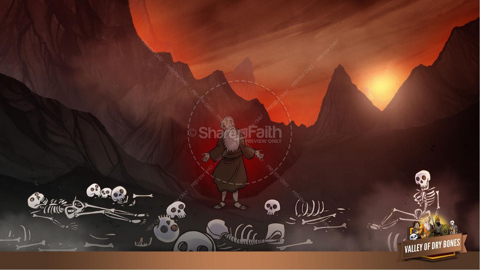 Ezekiel 37 Valley of Dry Bones Kids Bible Story   slide 14