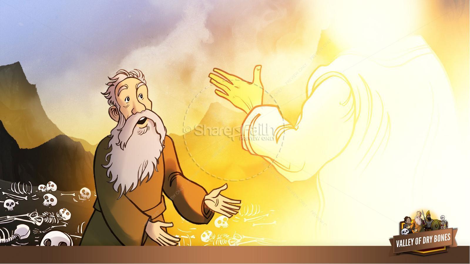 Ezekiel 37 Valley of Dry Bones Kids Bible Story | slide 18