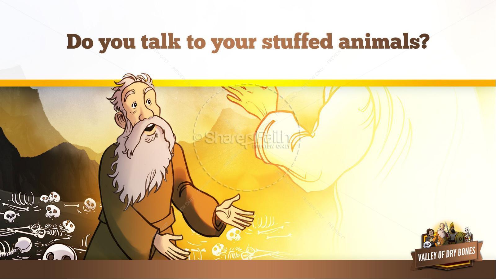 Ezekiel 37 Valley of Dry Bones Kids Bible Story | slide 21