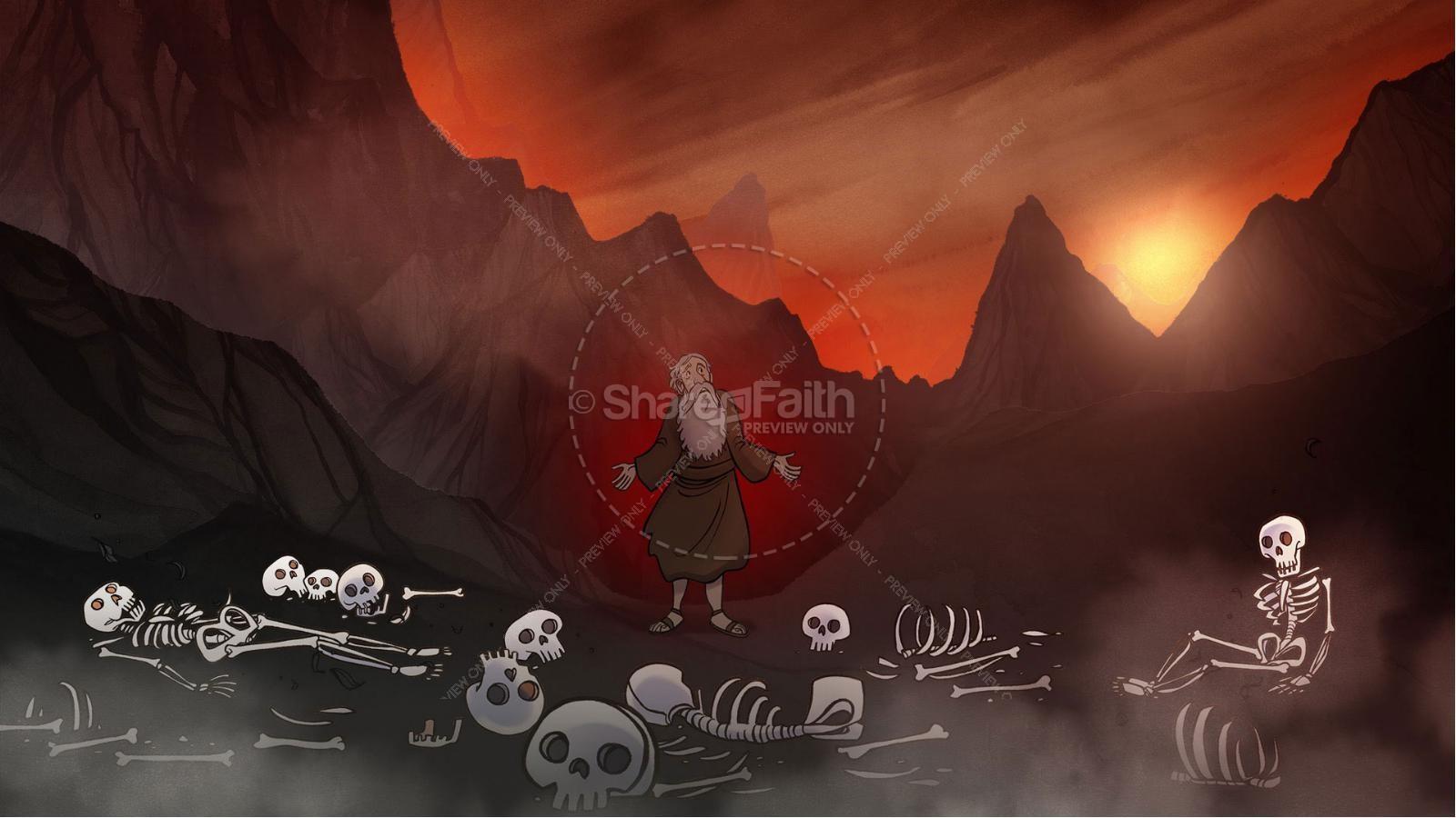 Ezekiel 37 Valley of Dry Bones Kids Bible Story   slide 3