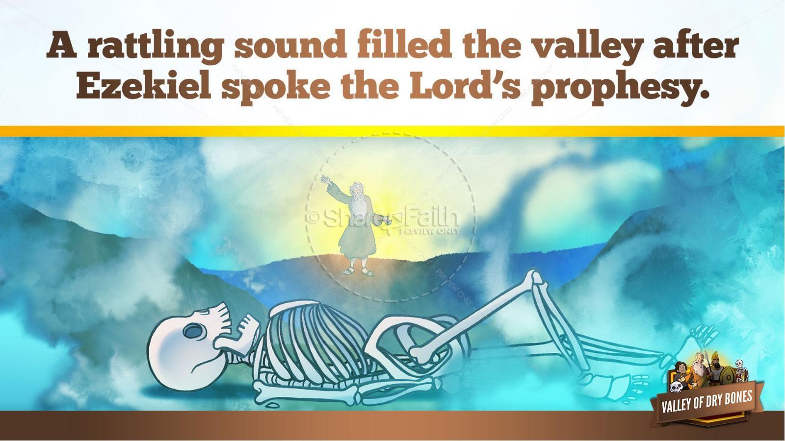 Ezekiel 37 Valley of Dry Bones Kids Bible Story | slide 24