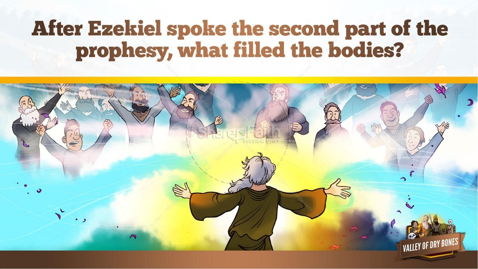 Ezekiel 37 Valley of Dry Bones Kids Bible Story | slide 27