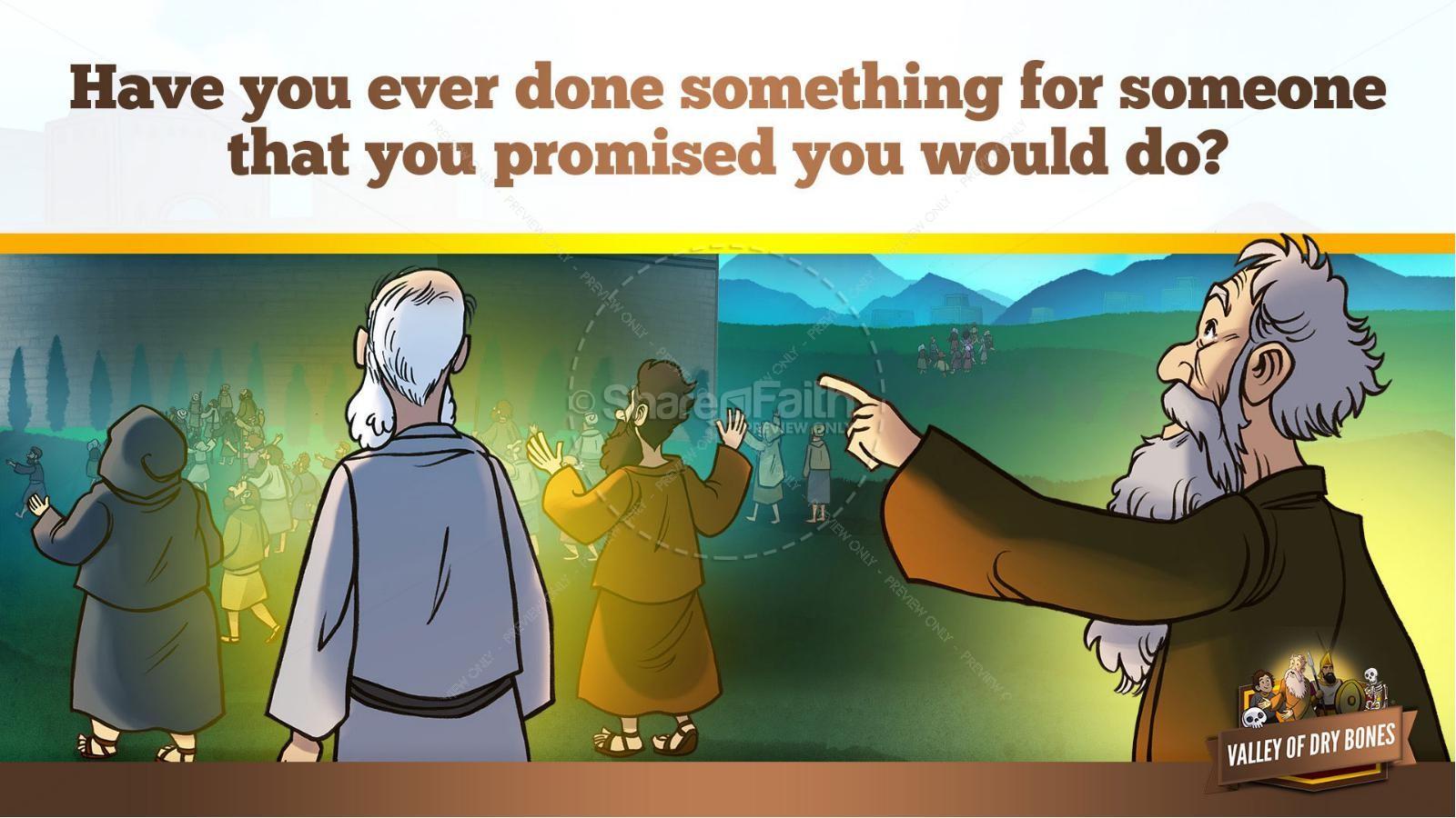 Ezekiel 37 Valley of Dry Bones Kids Bible Story | slide 37