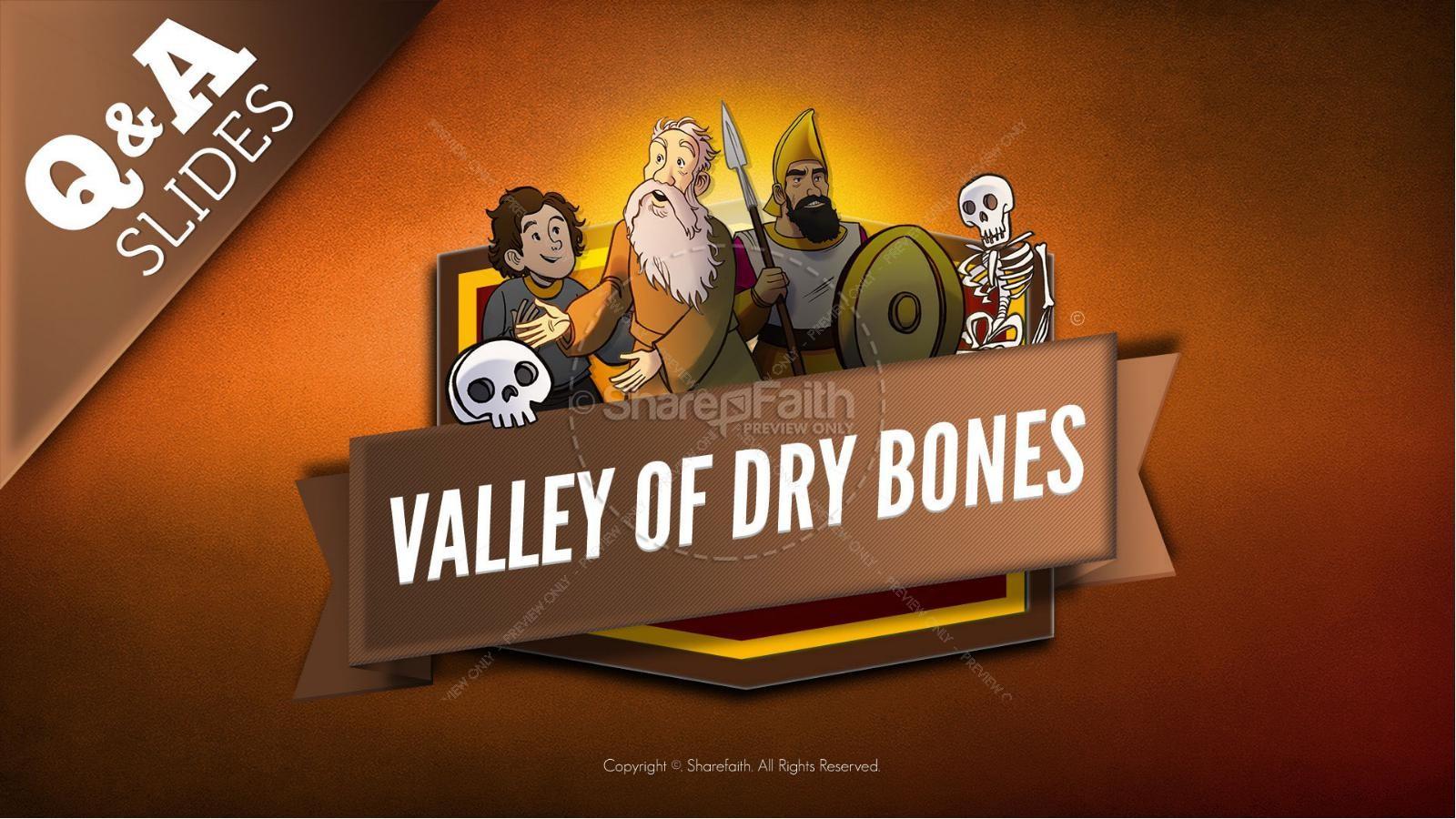 Ezekiel 37 Valley of Dry Bones Kids Bible Story | slide 9