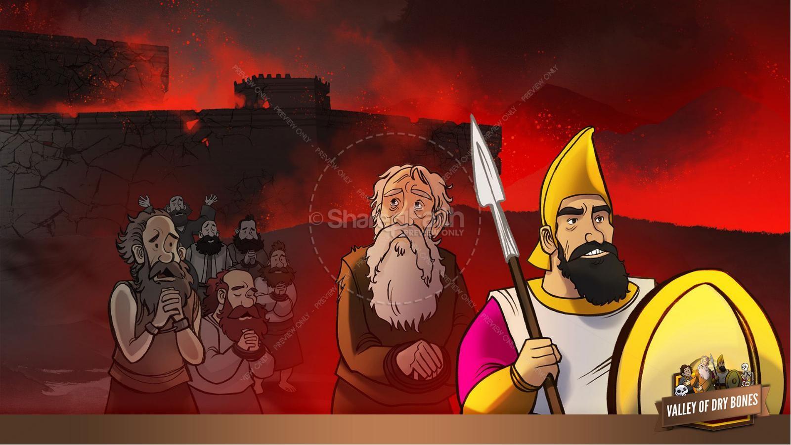 Ezekiel 37 Valley of Dry Bones Kids Bible Story | slide 10