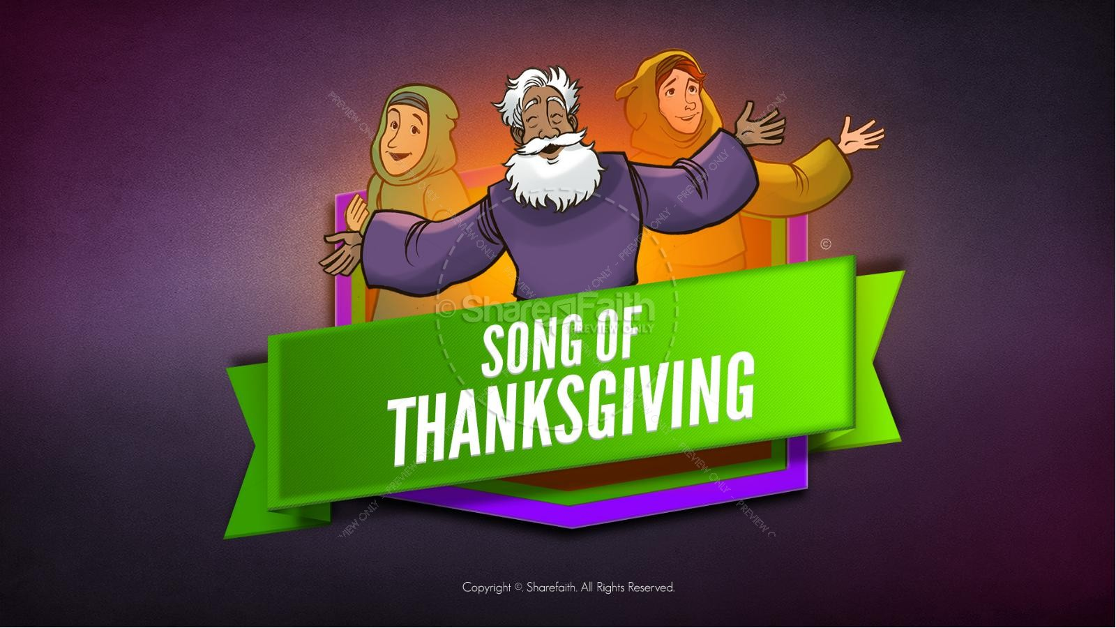 Psalm 107 Song of Thanksgiving Kids Bible Story | slide 1