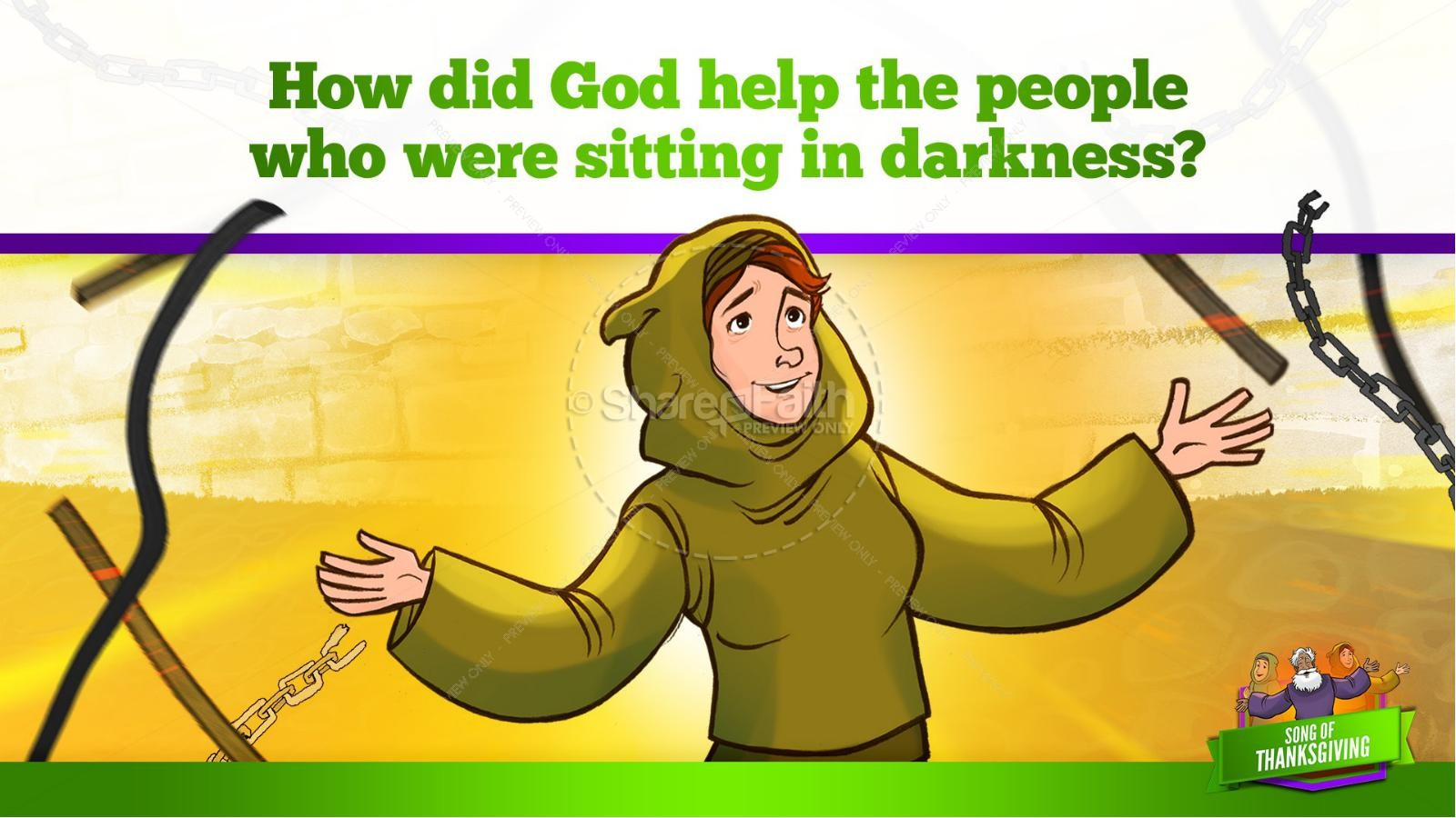 Psalm 107 Song of Thanksgiving Kids Bible Story   slide 19