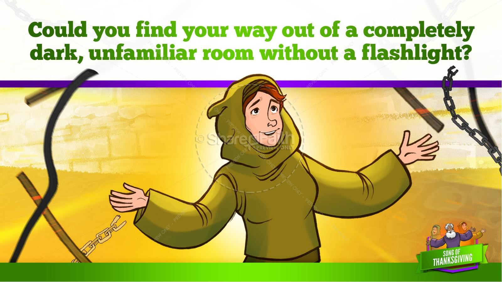 Psalm 107 Song of Thanksgiving Kids Bible Story | slide 21