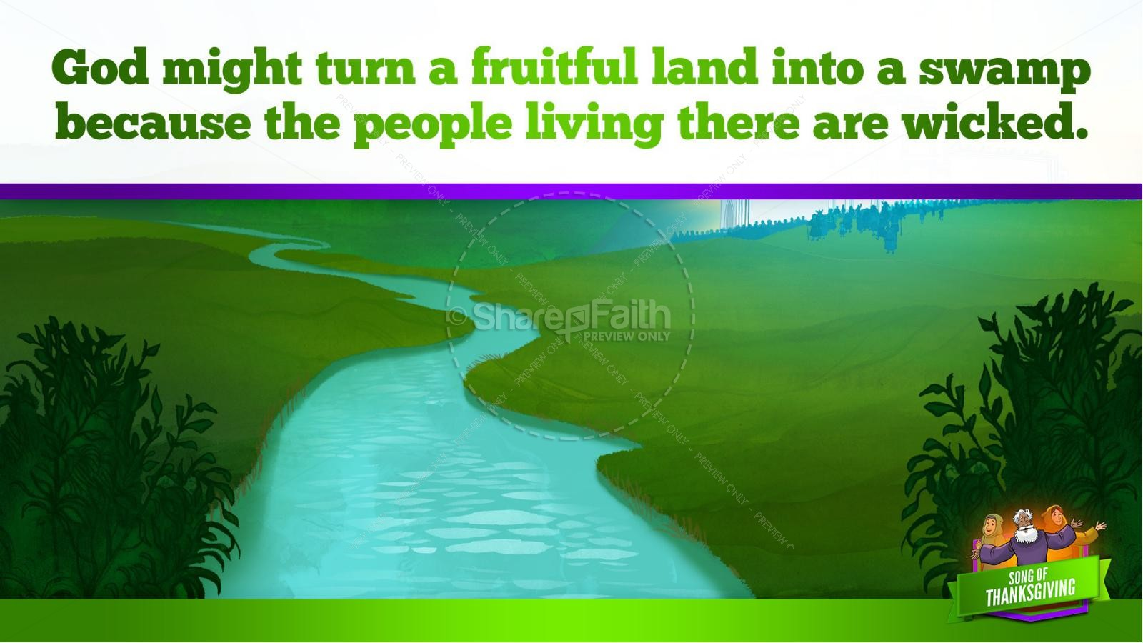 Psalm 107 Song of Thanksgiving Kids Bible Story   slide 32