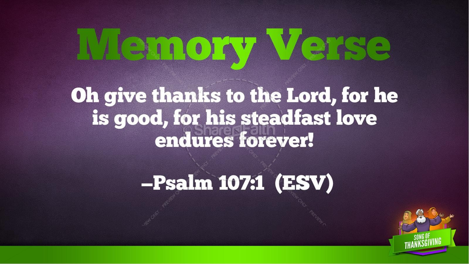Psalm 107 Song of Thanksgiving Kids Bible Story | slide 39