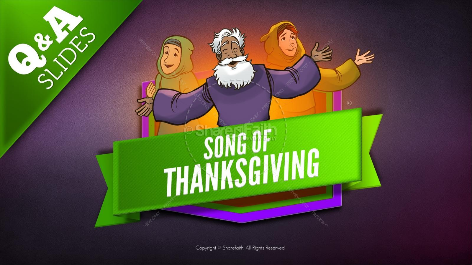 Psalm 107 Song of Thanksgiving Kids Bible Story | slide 9
