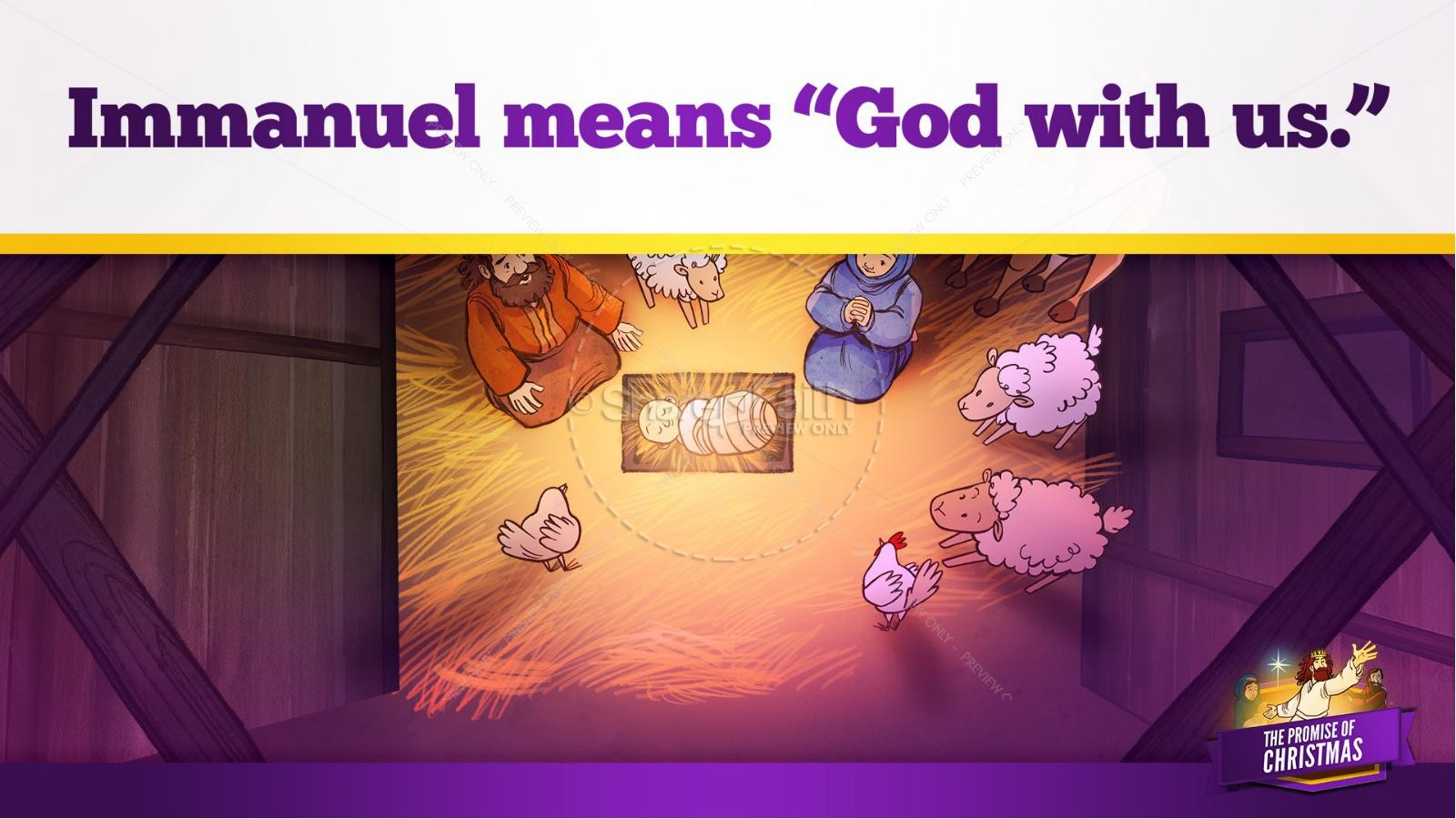 The Promise of Christmas Kids Bible Story | slide 24
