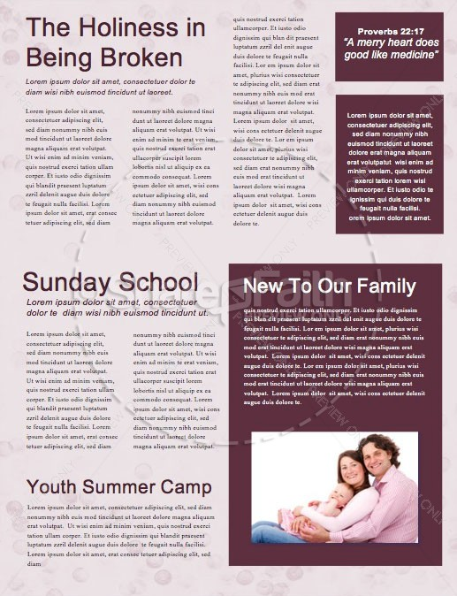 Merry Christmas Holly Newsletter Template | page 2