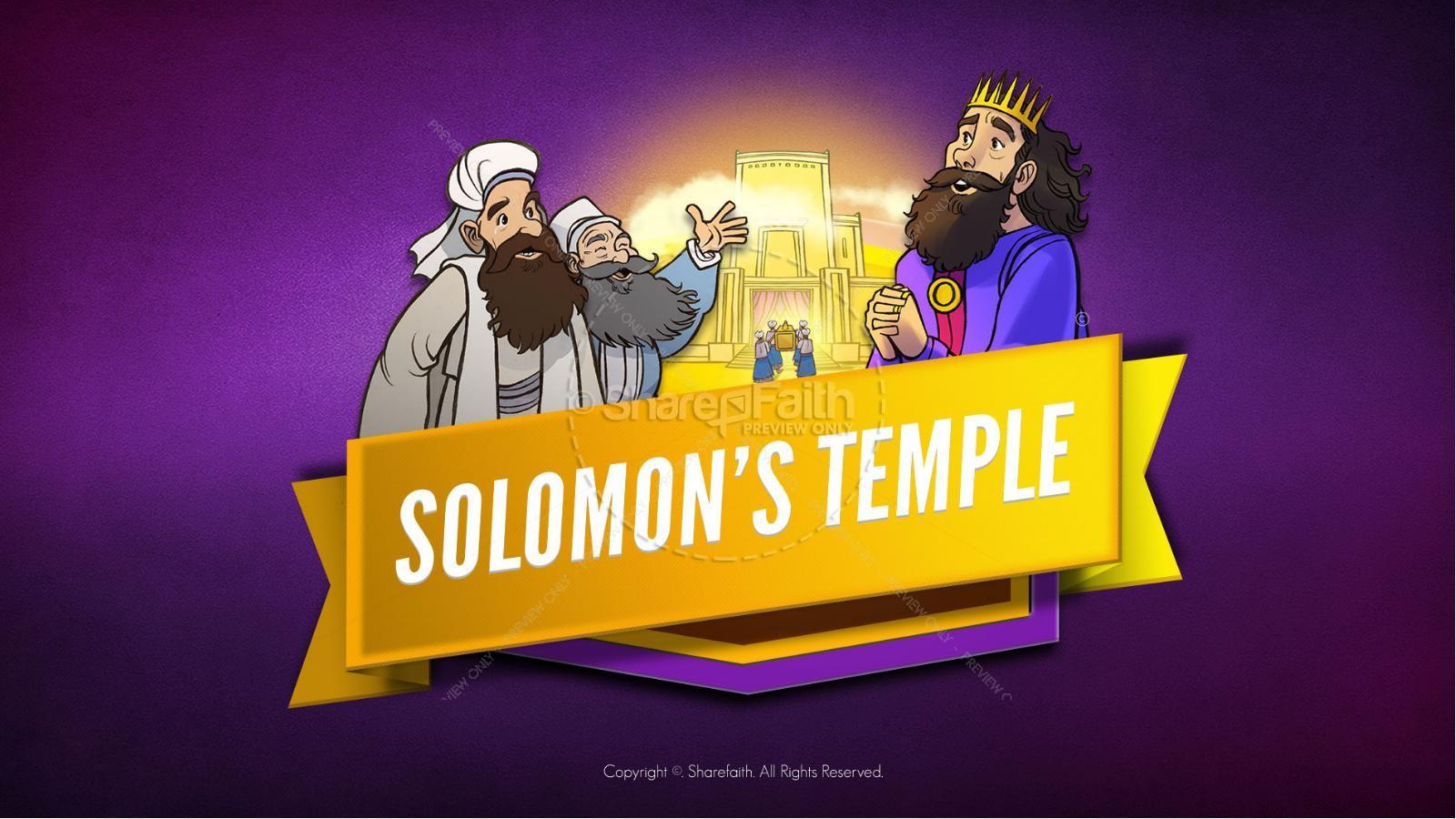 1 Kings 8 Solomon's Temple Kids Bible Story | slide 1