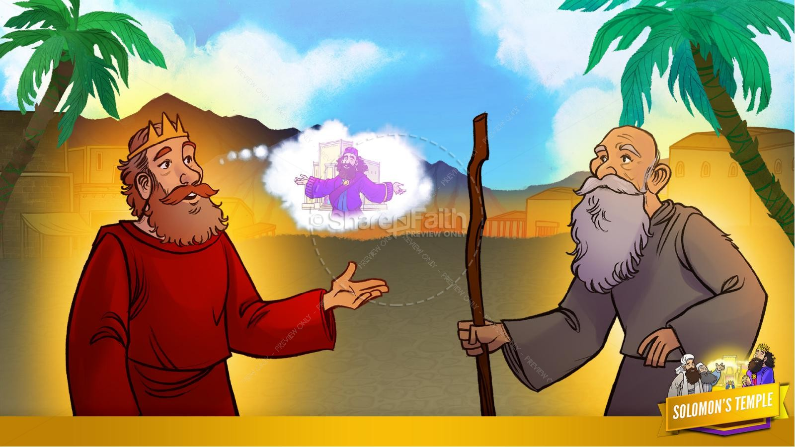 1 Kings 8 Solomon's Temple Kids Bible Story | slide 14
