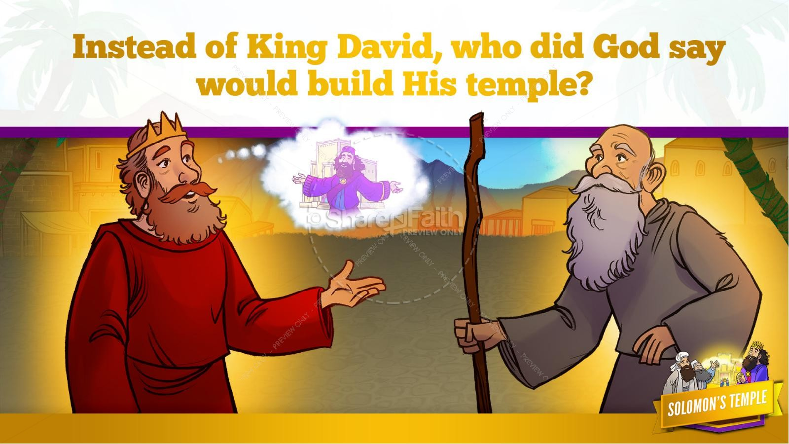 1 Kings 8 Solomon's Temple Kids Bible Story | slide 15