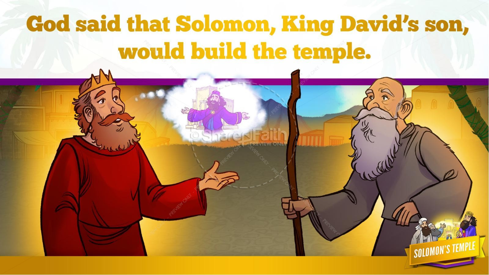 1 Kings 8 Solomon's Temple Kids Bible Story | slide 16