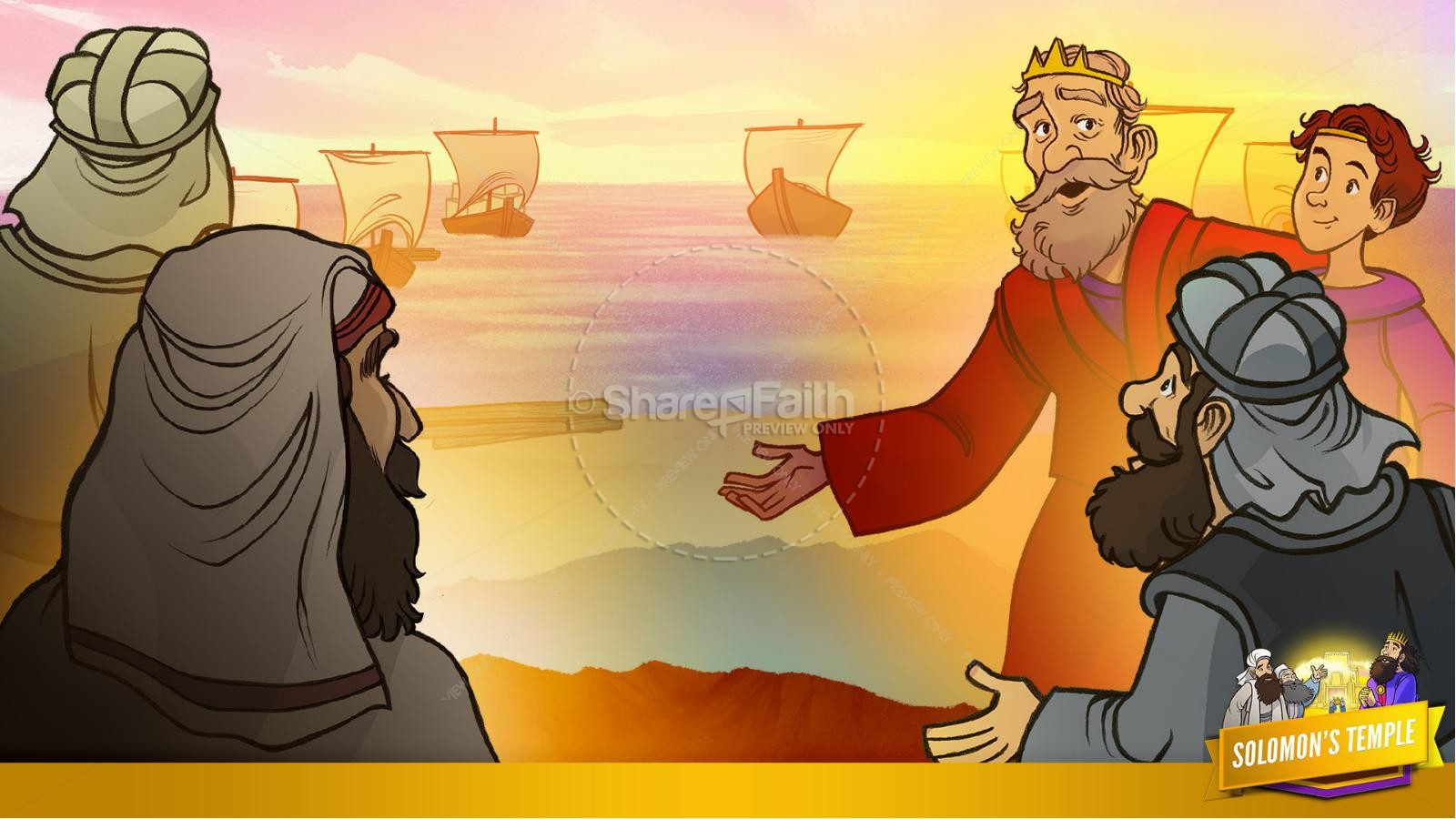 1 Kings 8 Solomon's Temple Kids Bible Story | slide 18