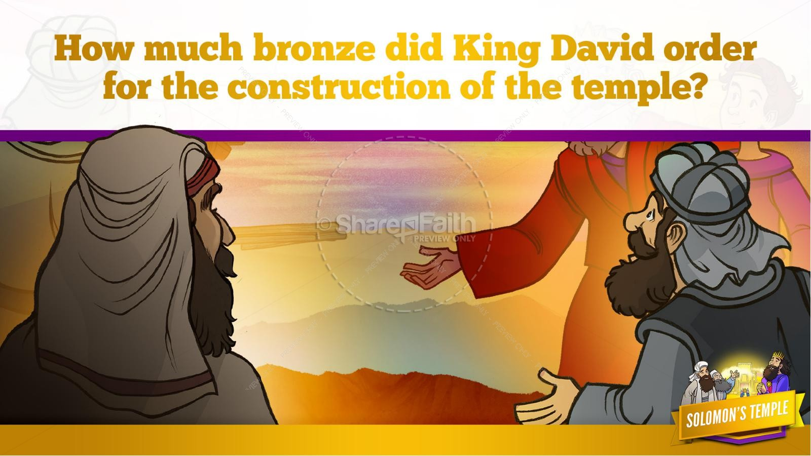 1 Kings 8 Solomon's Temple Kids Bible Story | slide 19