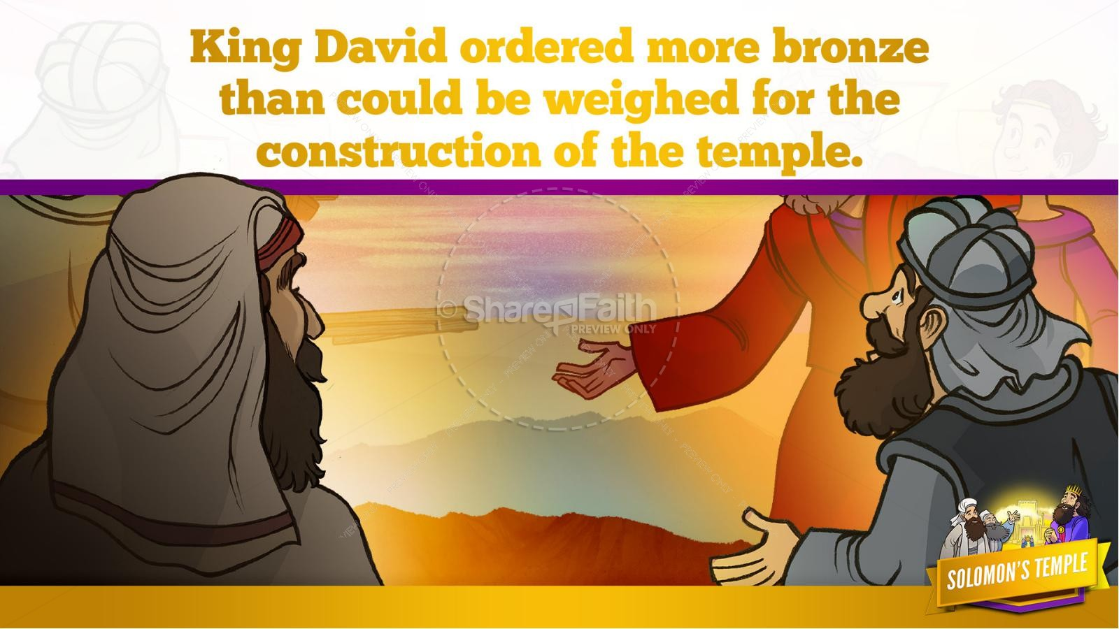 1 Kings 8 Solomon's Temple Kids Bible Story | slide 20