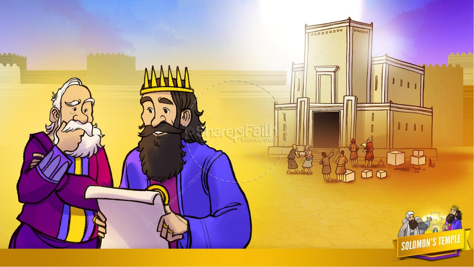 1 Kings 8 Solomon's Temple Kids Bible Story | slide 22