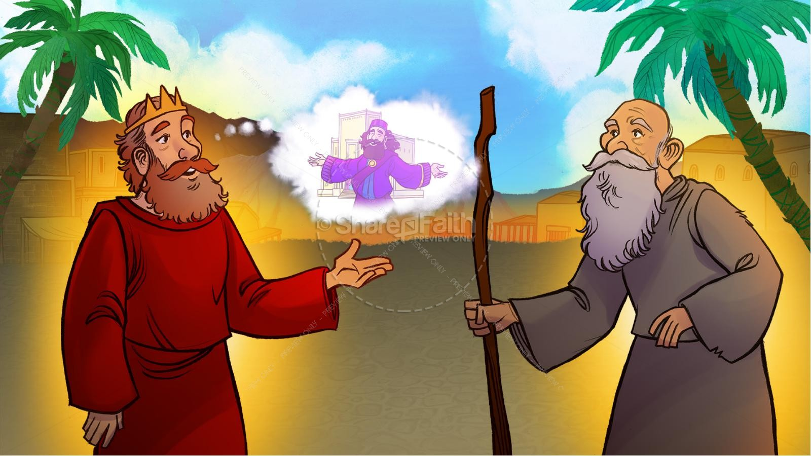 1 Kings 8 Solomon's Temple Kids Bible Story | slide 3